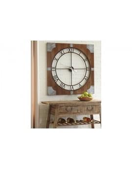 Palila Wall Clock Brown/Silver Finish