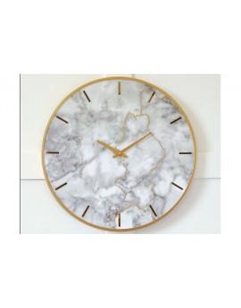Jazmin Wall Clock Gray/Gold Finish