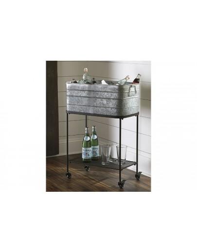 Vossman Beverage Tub Antique Gray/Brown