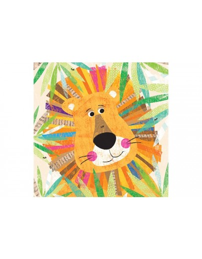 Canvas Wall Art Multi Lion